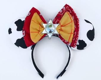 Woody inspired ears , cowboy ears , toy story ears