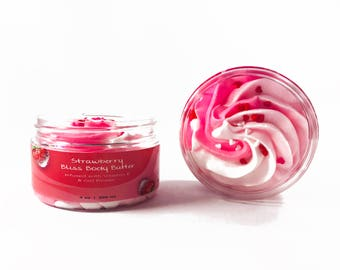 Strawberry Bliss Body Butter - All natural, perfect for girls!