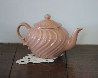 Dusty Peach Colored Teapot