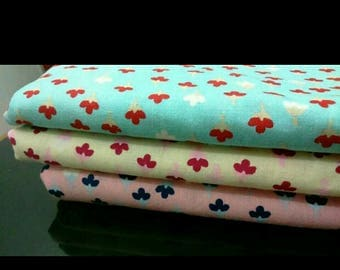 Floral Cotton Fabric / Floral Fabric / Quilting Fabric / Tosca Beige Pink / Little Flowers / Patchwork Blouse Dress Sewing Material