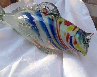 Murano vintage fish glass