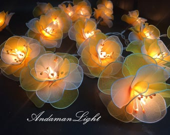 Flower string lights | Etsy