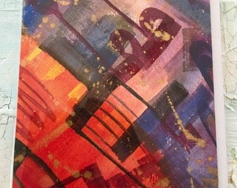 Original Hand Painted Greeting Card, Cards, Greeting Cards, Abstract Art Cards,  Original OOAK Cards