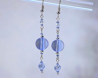 Azure Blue Dangle Earrings #481