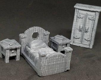 Bedroom Set - 3D Printed 28mm Scale