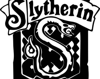 Harry Potter Slytherin Svg Files Silhouettes Dxf Files Cutting files Cricut Silhouette
