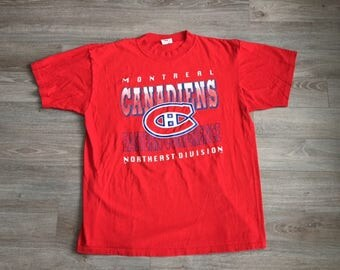 Montreal Canadiens NHL Hockey Canada Vintage Red Shirt Size XL