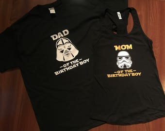Star Wars Family birthday Shirts - disney trip, Mom yedi shirt, dad darth vader shirt,  disney shirt, boy shirt, girl shirt, force/sass is s