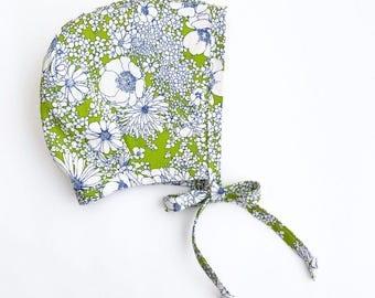 floral bonnet.