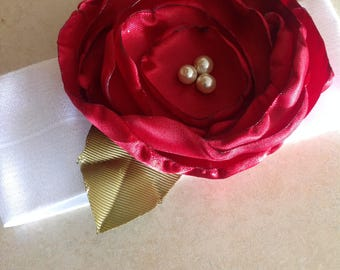 Headband, baby girl headband, baby girl, flower headband, beautiful headband, red flower