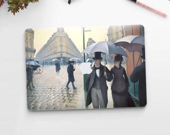 "Gustave Caillebotte, ""Paris Street, Rainy Day"". Macbook Pro 15 skin, Macbook Pro 13 skin, Macbook 12 skin. Macbook Air skin."