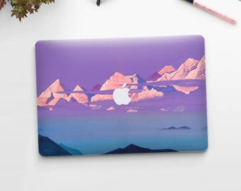 "Nicholas Roerich, ""Himalayas"". Macbook Pro 15 decal, Macbook Air 13 skin,  Macbook 12 sticker. Macbook Pro sticker. Macbook skin Art."