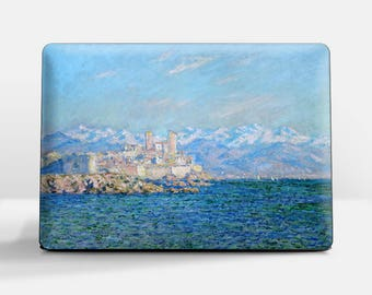 """Laptop skin (Custom size). Claude Monet, """"Antibes, Afternoon Effect"""".  Laptop cover, HP, Lenovo, Dell, Sony, Asus, Samsung etc."""