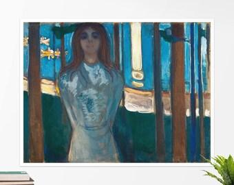 """Edvard Munch, """"The Voice, Summer Night"""". Art poster, art print, rolled canvas, art canvas, wall art, wall decor"""