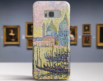 "Paul Signac, ""Grand Canal"". Samsung S8 Case, Samsung S7 Case, Samsung S6 Case, Huawei, LG, Google Pixel Cases. Art phone cases."