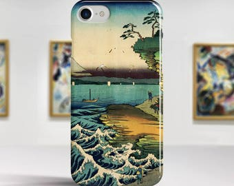 "Utagawa Hiroshige, ""The Hota Coast"". iPhone 8 Case Art iPhone 7 Case iPhone 6 Plus Case and more. iPhone 8 TOUGH cases. Art iphone cases."