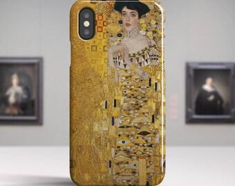 "Gustav Klimt, ""Portrait of Adele Bloch-Bauer"". iPhone X Case Art iPhone 8 Case iPhone 7 Plus Case and more. iPhone X TOUGH cases."
