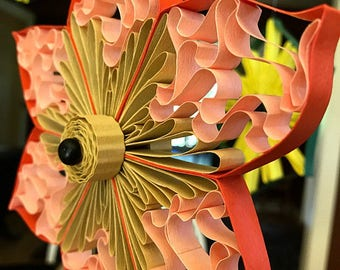 Quilled Paper flower star hanging gift anniversary birthday christmas