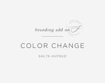 Custom Color Change on Premade Design, Custom Color Change, Color Change Add On, Made to Order