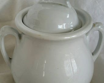 Antique  Royal Alfred Meakin Stoneware Tureen Sugar Bowl Made in England
