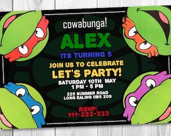 Ninja Turtles birhday invitation