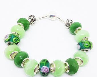 All about green European style bracelet