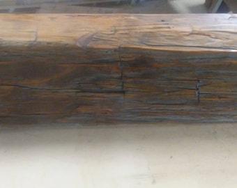 Ready to Install Barn Beam Mantel, Fireplace Mantel, Barnwood Mantel, Reclaimed Wood Mantel, Barn Wood Mantel, Salvaged Wood Mantel