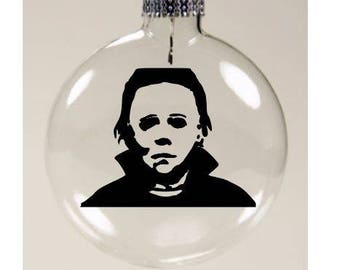 Michael Myers Halloween Christmas Ornament Glass Disc Holiday Black Friday Horror Merch Massacre