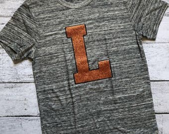 """Larned """"L"""" T-Shirt / Larned Indians T-Shirt / Gifts For Her / Gifts For Him / Christmas Gift / School Spirit Apparel / Graphic Tee /"""