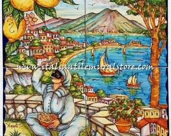 Napoli Marechiaro in Italy Mosaic Tiles Backsplash Positano - Italy Tile Ceramic Backsplash