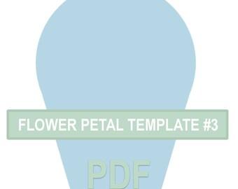 Flower Petal Template #3 PDF