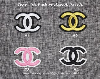 Emblem Patch CC Iron On Patch 2.4'' x 1.8'' Top Quality Embroidered Patch CC Special Design Custom Made   #A14