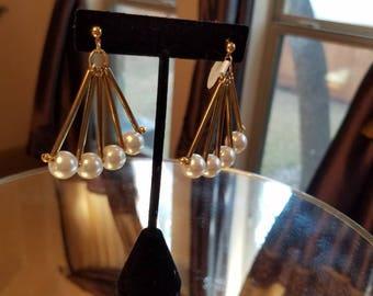 Gatsby Glamour Chandelier Fan Earrings