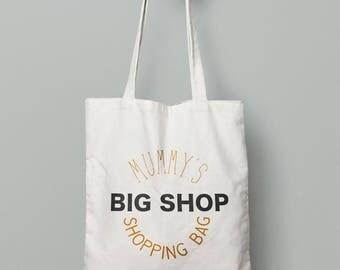 Mummy tote shopping bag
