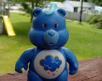 Vintage 1983 Grumpy Bear Care Bear, Poseable Figure, 1980s toys, Care Bears