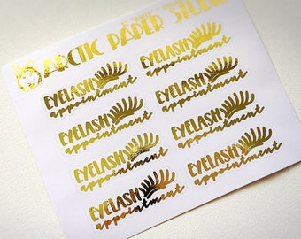 Eyelash Appointment - FOILED Sampler Event Icons Planner Stickers