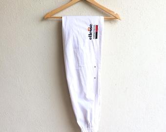 Rare!!! Vintage ELLESSE PERUGIA ITALIA Trackpant White Colour Good Condition