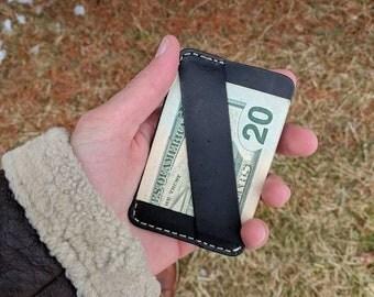 The Chapman Minimalist Wallet, Front Pocket Wallet, Black Leather Wallet, Leather Card Wallet, Slim Wallet, Gift for men, Skinny Wallet, edc