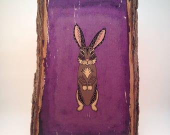 Rabbit Wood Print (Medium)