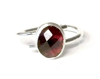 Garnet (oval) Adjustable Ring