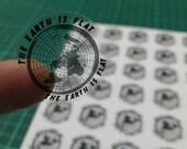 Mini Flat Earth Stickers × 35