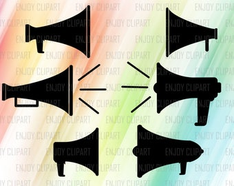Megaphone Svg, Cheer Megaphone Svg, Cheer Svg Files, Cheer Decal, Horn Speaker, Svg Files For Silhouette, Svg Decals, Cricut Downloads, Eps