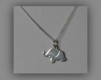 Tiny Elephant Necklace,Baby Elephant Necklace,Sterling Silver Delicate Elephant Necklace Pendant Jewelry