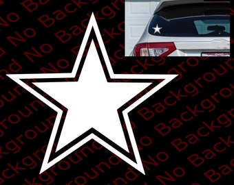 ARMY STAR  Vinyl Die Cut Decal Sticker with No Background for Car Windows Fender Bumper Laptop Cell Phone Dallas Cowboy NFL  SP019