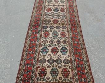 Oushak Runner Rug,Turkish Vintage Runner Rugs,3x10feet,Area Rug, Runner Carpet,90x300cm,Anatolian Rug,Floor rug,Turkish Carpet,Home Living