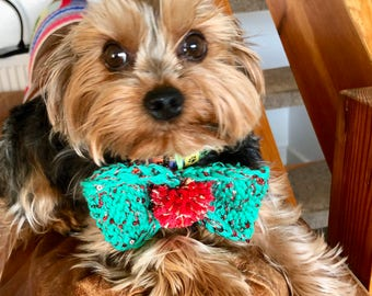 Christmas BOW TIE Bespoke HandKnitted Custom Made Especially for You