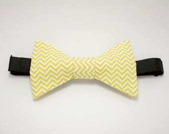 "Bow with yellow zigzag ""Dandypnotique"""