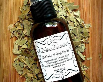 All Natural Bug Spray / Kid Safe / Deet Free insect repellent / Homemade Bug Spray / Aromatherapy Oil