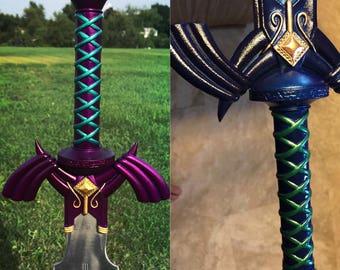 Legend of Zelda Master Sword Full-Size Metal Replica, Breath of the Wild, Twilight Princess, Ocarina of Time