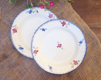 Antique earthenware plates from Digoin, model Mary Lou